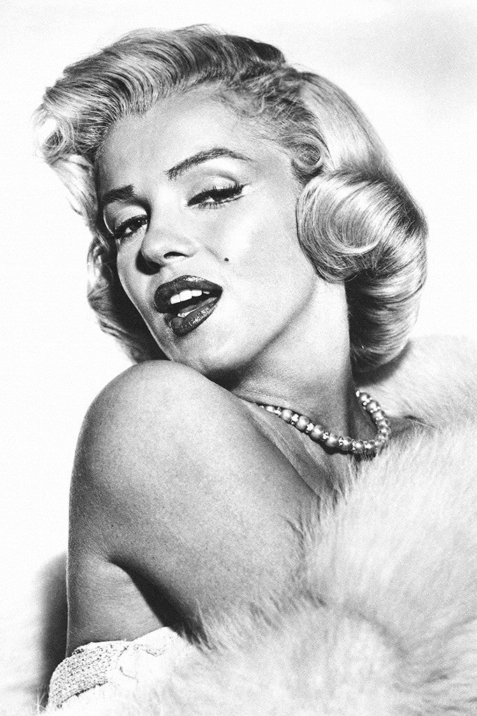 Marilyn Monroe Look Black and White Poster