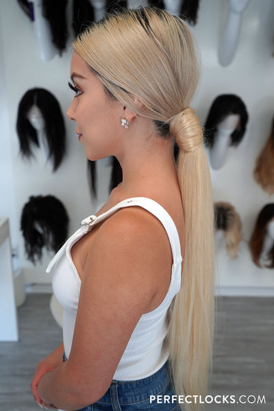 classic low ponytail