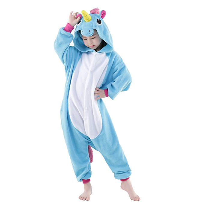 Kids Blue Pony Unicorn Onesie