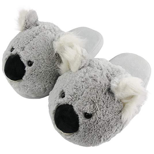 Soft Grey Koala Slippers