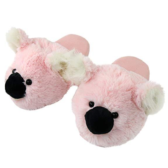 Soft Pink Koala Slippers