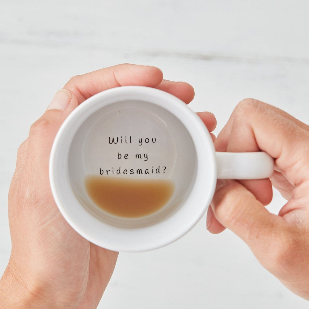 Will you be my bridesmaid? Secret Message Mug