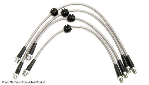 Challenge Stainless Steel Braided Brake Lines - BMW E46 M3 - Brakes - Studio RSR