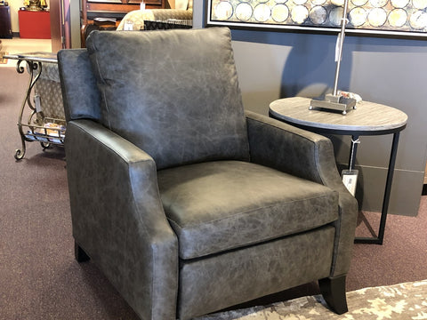 Leather Recliner Modern Charcoal Grey