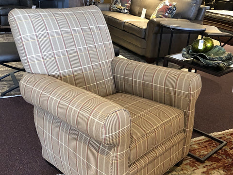 Chair in Plaid Fabric