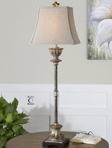 525-La Morra - Antiqued Silver-Lamp