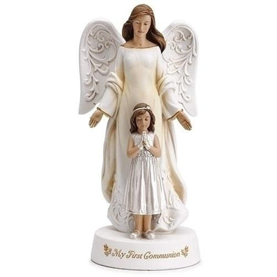 First Communion Angel with Praying Girl