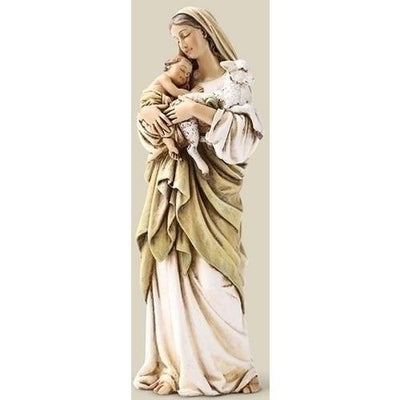 Madonna and Child and Lamb statue figurine 6.25 inches