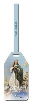 Our Lady of the Airway Flexible Poly Luggage Tags