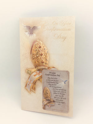 Confirmation Greeting Card with Holy Card