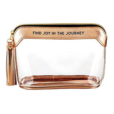 Find Joy in the Journey Metallic Rose Gold Stadium Bag