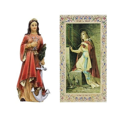 St Philomena Statue. Hand Painted Solid Resin 4