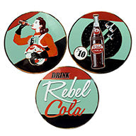 """Rebel Cola Set of 3"" Collectible Pin"