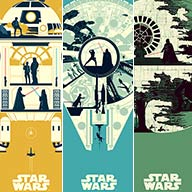 """Star Wars Set of 3"" (Ferguson)"