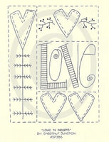 Love and Hearts Embroidery ePattern