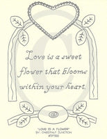 Love Is A Flower Embroidery ePattern