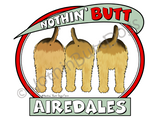 Nothin' Butt Airedales Dark Colored T-shirts