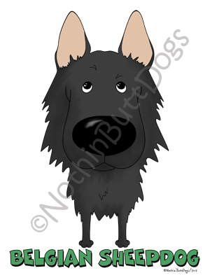 Big Nose Belgian Sheepdog Dark Colored T-shirts