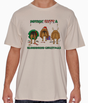 Nothin' Butt A Bloodhound Christmas Shirts - More Styles and Colors Available