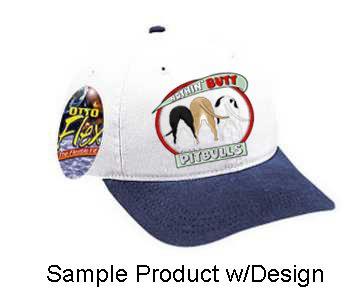 Nothin' Butt Baseball Cap - White w/Navy Bill (70+ Dog Breeds Available)