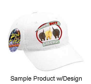 Nothin' Butt Baseball Cap - Solid White (70+ Dog Breeds Available)