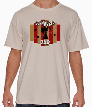 Schnauzer Dad Stripe Shirts - More Styles and Colors Available