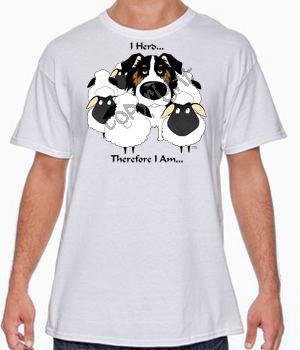 Tri Aussie I Herd T-shirts - More Colors Available