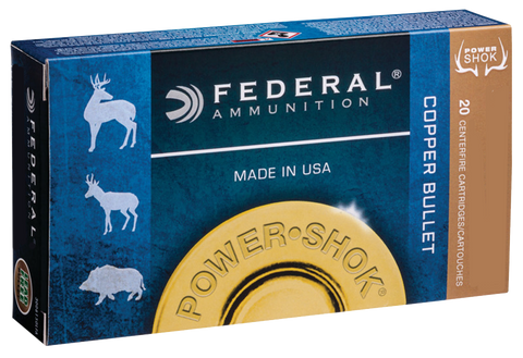 Federal 300WSM180LFA Power-Shok 300 Winchester Short Magnum (WSM) 180 GR Copper Hollow Point 20 Bx/ 10 Cs