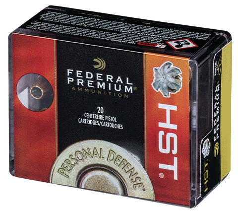 Federal P9HST2S Personal Defense 9mm Luger 147 GR Jacketed Hollow Point 20 Bx/ 10 Cs