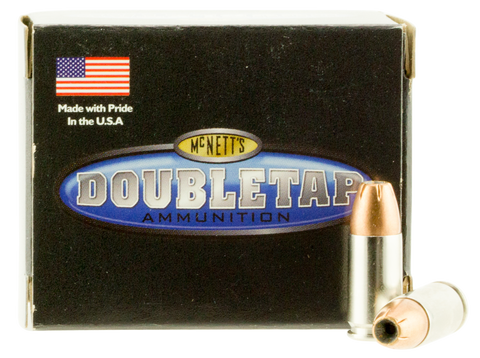 DoubleTap Ammunition 9MM165EQ DT Defense 9mm Luger 165 GR Jacketed Hollow Point 20 Bx/ 50 Cs