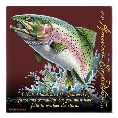 American Expedition Square Coaster - Rainbow Trout