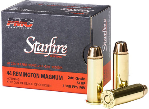 Pmc Ammo .44 Rem. Mag. 240gr. Starfire Hollow Point 20-Pack !