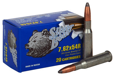 Silver Bear 7.62X54R 203gr. Sp Soft-Point Zinc Plated 20-Pack