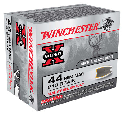 Winchester Ammo Super-X .44 Rem Mag 210gr. Silvertip HP 20-Pack