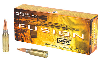 Federal Fusion MSR, 6.5 Grendel, 120 Grain, Soft Point, 20 Round Box F65GDLMSR1