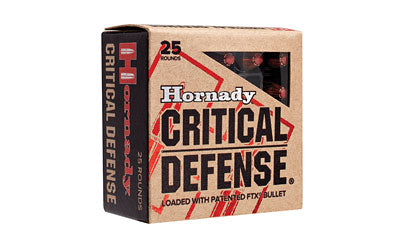 Hornady Critical Defense, 38 Special, 110 Grain, Hollow Point, 25 Round Box 90311