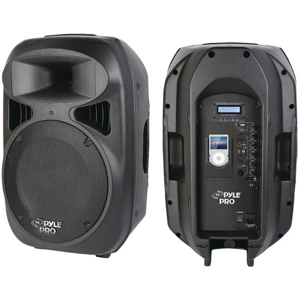 Pyle Pro Pphp1299Ai 2-Way Full-Range Powered Loud Speaker System With Built-In Ipod(R) Dock (12''; 1,000W)