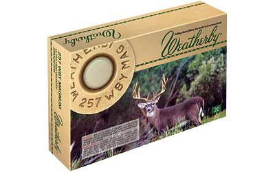 Weatherby Select Ammunition, 257 Weatherby, 100 Grain, Norma Spitzer, 20 Round Box G257100SR