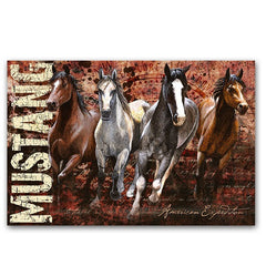 American Expedition Mustang Graphic Canvas Art