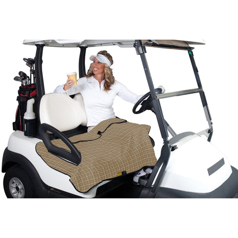 Classic Accessories Golf Cart Seat Blanket Plaid