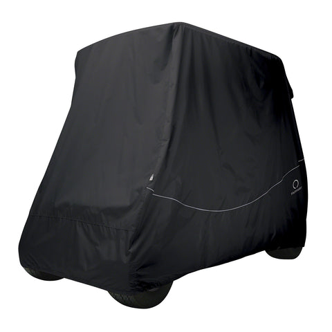 Fairway Golf Cart Quick-Fit Cover Long Roof - Black