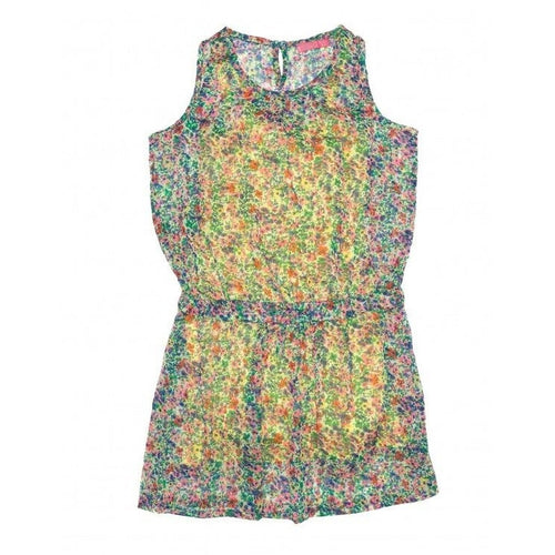 chiffon flower dress