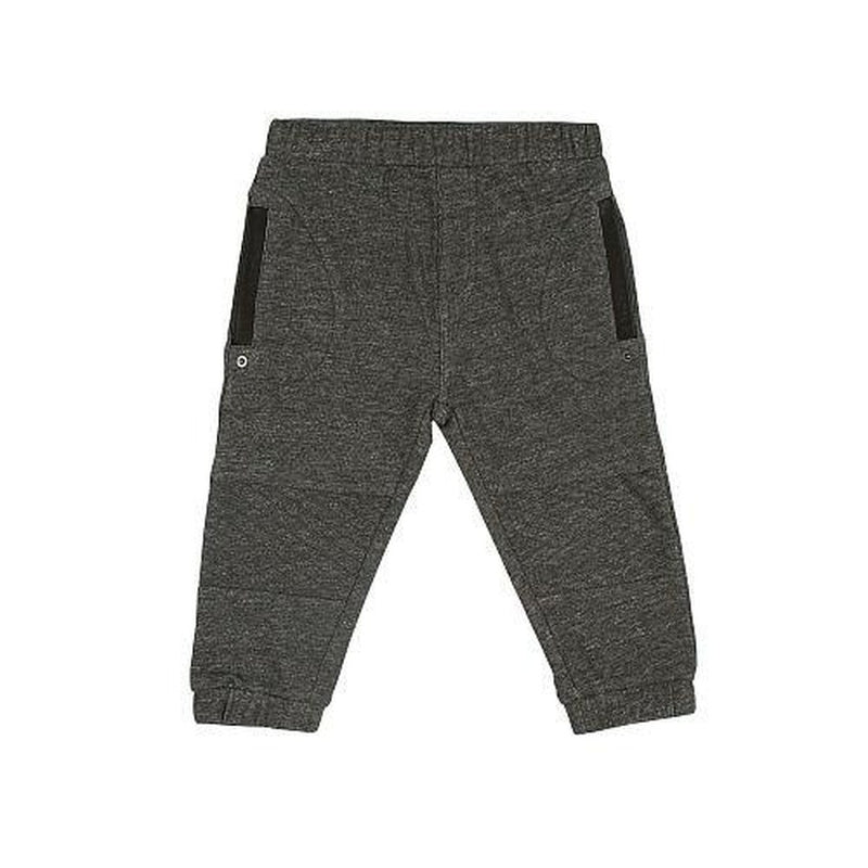 french terry grey quilted pant