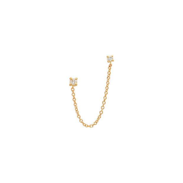 2 Diamond Chain Linked Earring