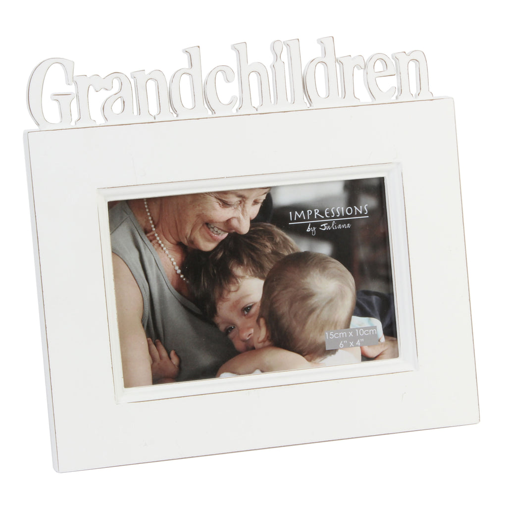 Grandchildren Cut Out Letters Photoframe by Juliana