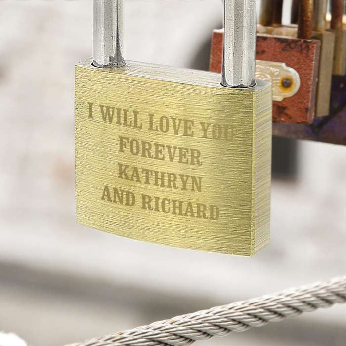 Personalised Padlock - for any occasion