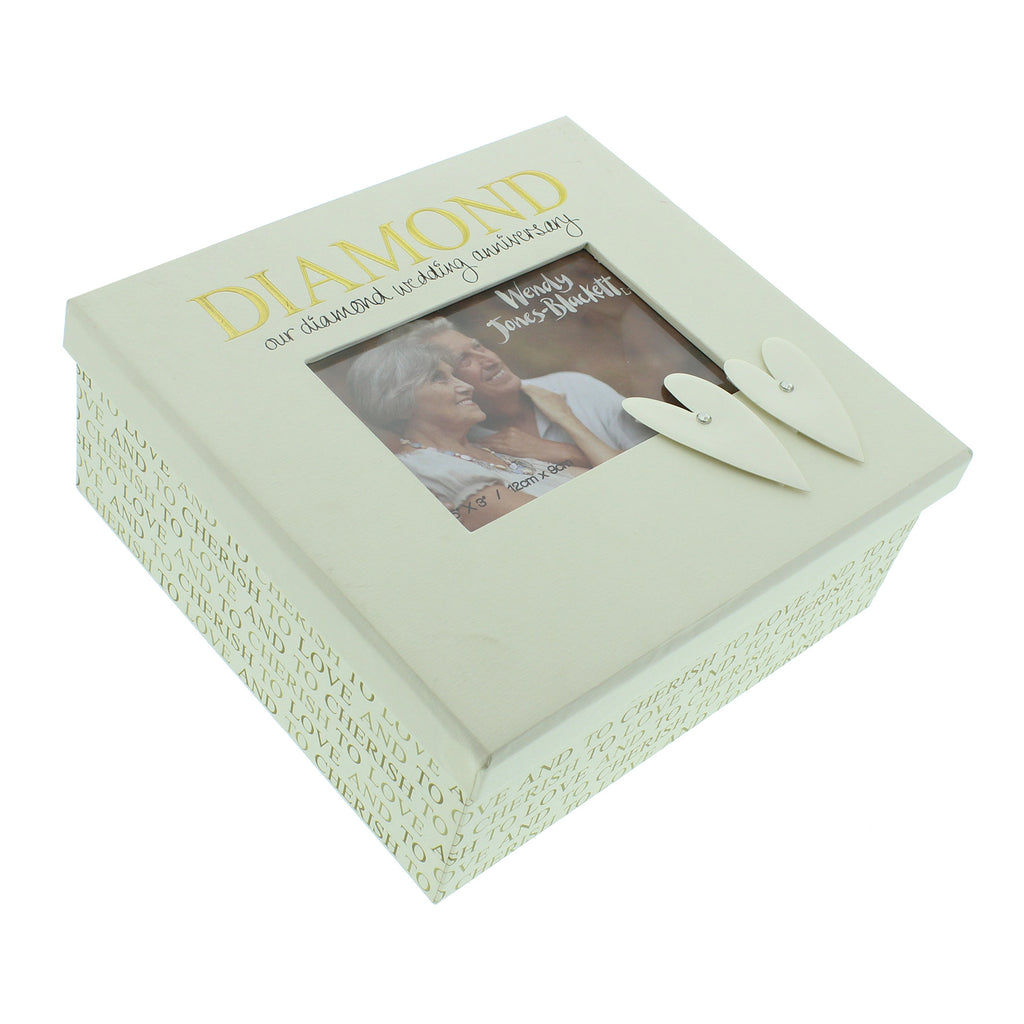 Wendy Jones Blackett Keepsake Box Diamond Anniversary
