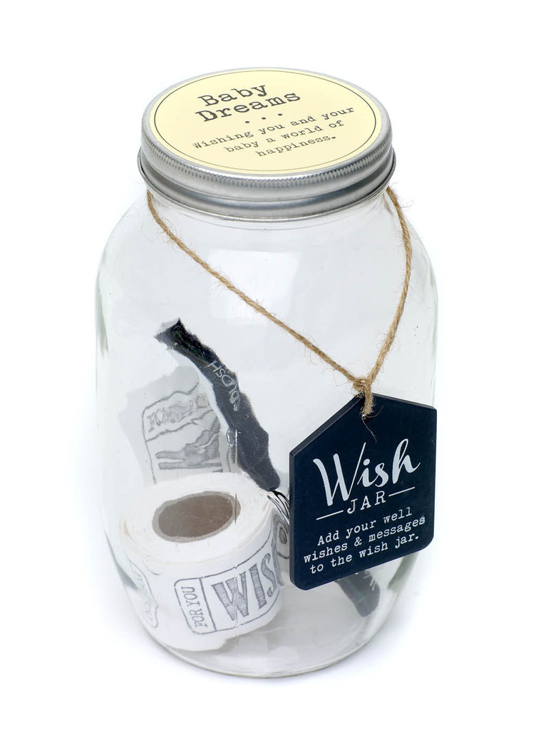 Baby Dreams Wish Jar, with pen and wish notes in jar