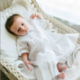 Feltman Bros Brothers Boys White Blue Heirloom Daygown Gown Newborn Classic