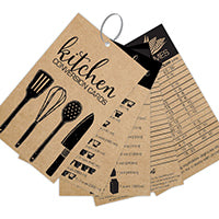 Kraft Utensils Conversion Cards